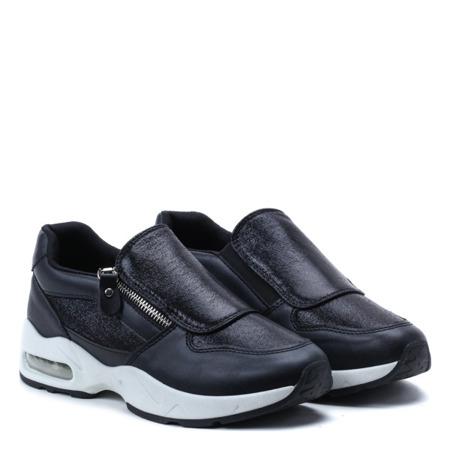 Czarne sportowe buty z metalicznymi detalami Alexandria - Obuwie