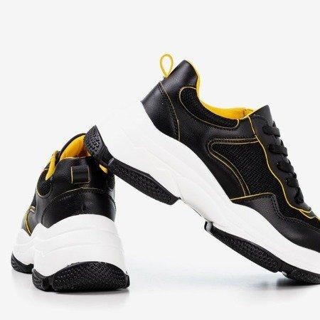 Czarne sportowe sneakersy damskie Balgra - Obuwie