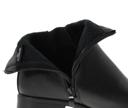 Czarne sztyblety z suwakiem - Obuwie
