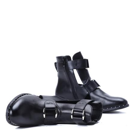 Czarne workery Nessy- Obuwie