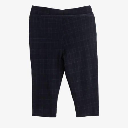 Czarne wzorzyste damskie spodnie typu rybaczki - Odzież
