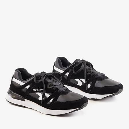 Czarno-białe męskie sportowe buty Hualo - obuwie