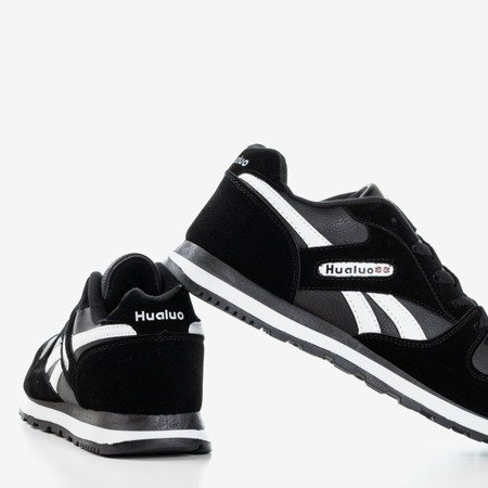 Czarno-białe męskie sportowe buty Kolda - Obuwie
