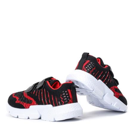 Czarno - czerwone chłopięce sportowe buty Missisipi - Obuwie