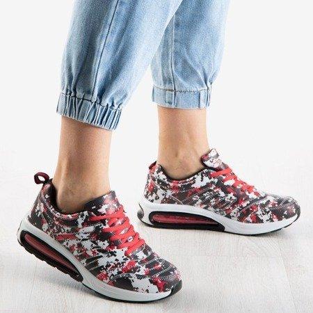 Czarno-czerwone sportowe buty daskie Jordan - Obuwie
