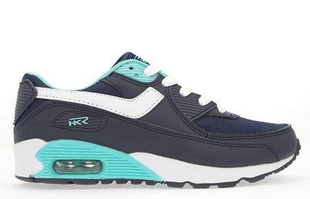 Czarno-niebieskie buty sportowe - Obuwie