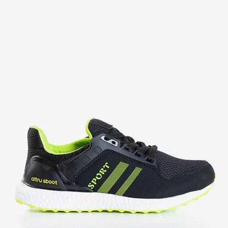 Czarno-zielone sportowe buty damskie Birala - Obuwie