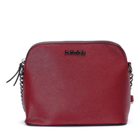 Czerwona torebka na ramię z napisem - Torebki