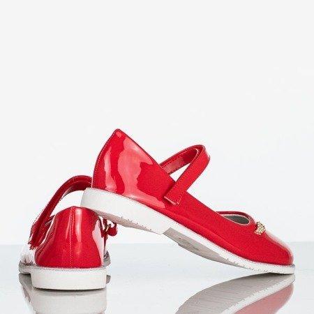 Czerwone baleriny dziecięce lakierowane Melanee - Obuwie