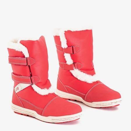 Czerwone dziecięce śniegowce Astoria - Obuwie