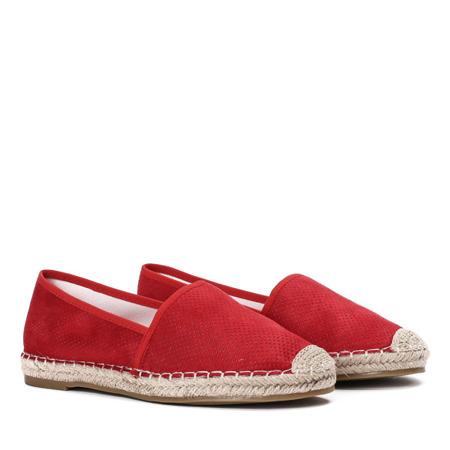 Czerwone espadryle ażurowe Valenta - Obuwie
