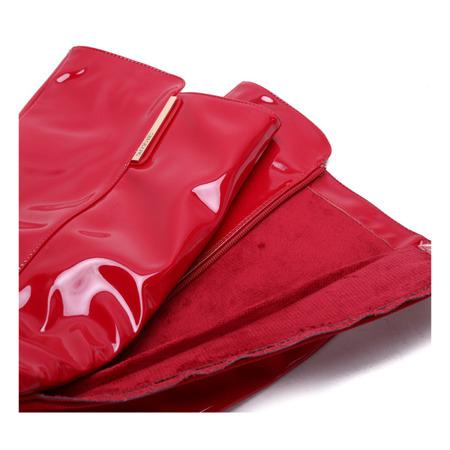 Czerwone, lakierowane kozaki Wild Thoughts- Obuwie