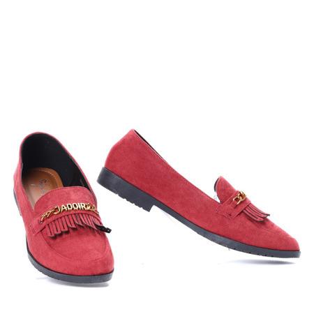 Czerwone mokasyny Jadoir- Obuwie