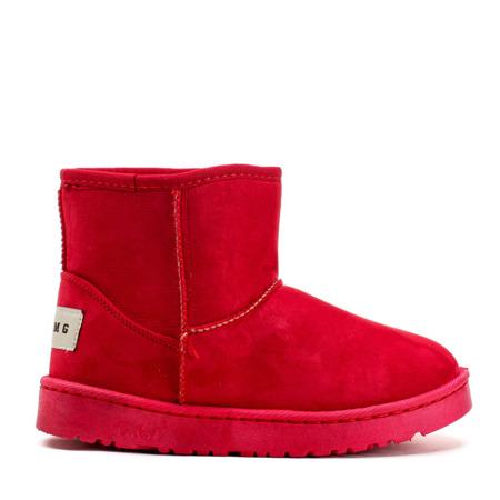 Czerwone, ocieplane śniegowce Do It Right - Obuwie