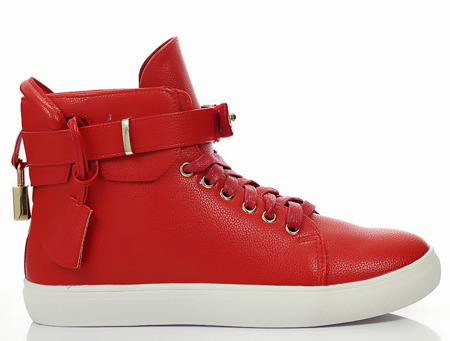 Czerwone sneakersy  - Obuwie