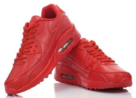 Czerwone, sportowe buty  - Obuwie