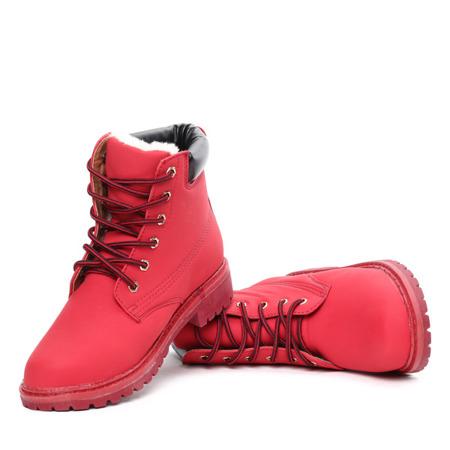 Czerwone trapery ocieplane Viviana- Obuwie