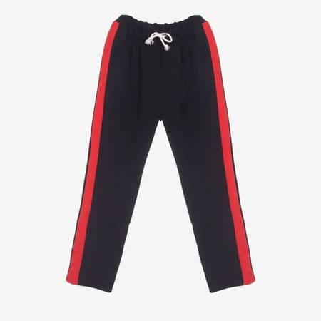Czerwony - czarny komplet dresowy - Odzież