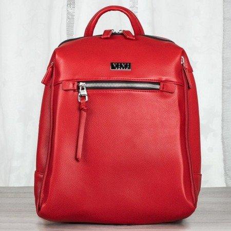 Czerwony plecak damski - Plecaki