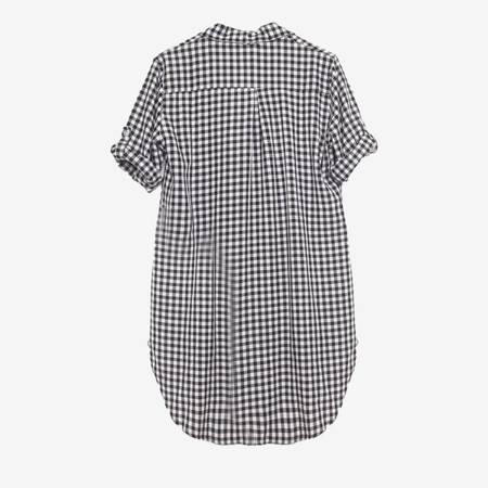 Damska tunika koszulowa w kratkę - Odzież