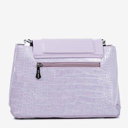 Fioletowa damska torebka ze zwierzęcym tłoczeniem - Torebki
