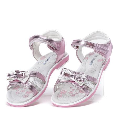 Fioletowo-białe sandały dziewczęce Linettea- Obuwie
