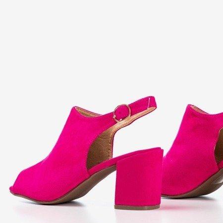 Fuksjowe sandały damskie na wyższym słupku Vikash - Obuwie