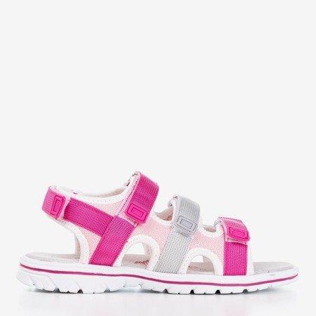 Fuksjowo-szare dziecięce sandały Belina - Obuwie