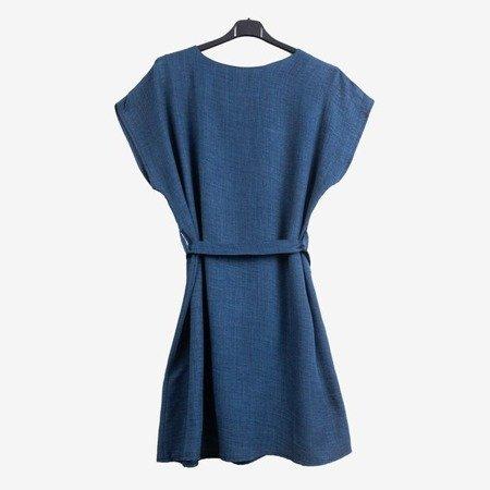 Granatowa damska sukienka - Odzież
