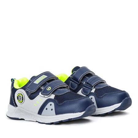 Granatowe buty chłopięce sportowe Nildan - Obuwie
