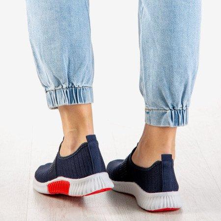 Granatowe buty sportowe damskie Agafia - Obuwie