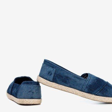Granatowe espadryle materiałowe a'la jeans Timsa - Obuwie
