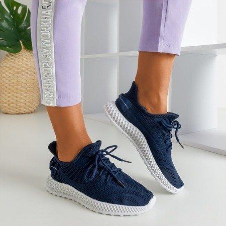 Granatowe sportowe buty damskie Amberi - Obuwie