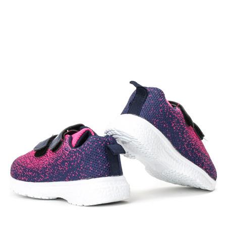 Granatowo-różowe dziecięce buty Etivia - Obuwie