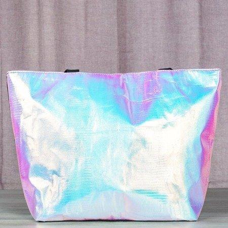 Holograficzna torba ze zwierzęcym tłoczeniem - Torebki