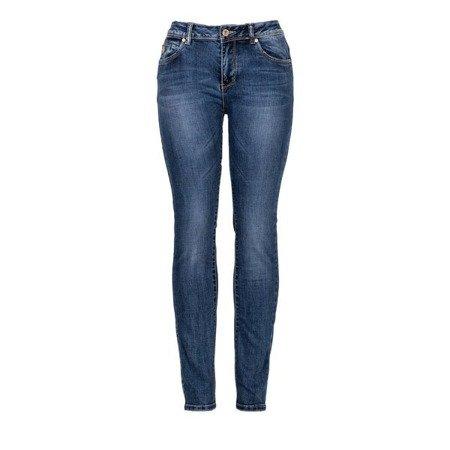 Jeansowe damskie spodnie - Spodnie