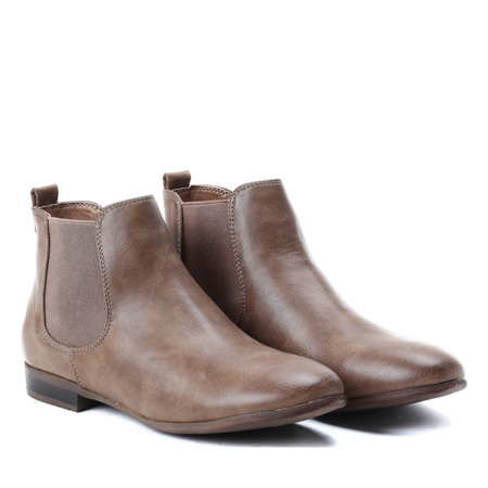 Klasyczne, brązowe botki - Obuwie