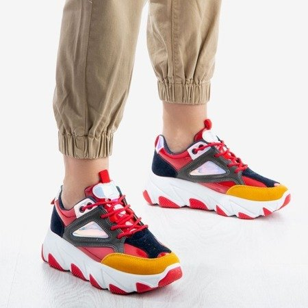 Kolorowe sportowe buty na platformie Magnetic - Obuwie