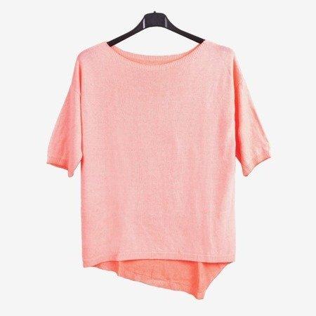 Koralowy damski sweter - Odzież