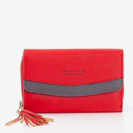 Mały czerwony portfel damski - Portfel