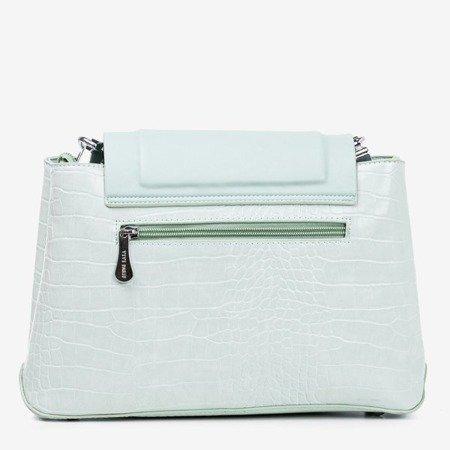 Miętowa damska torebka ze zwierzęcym tłoczeniem - Torebki