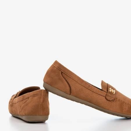 Mokasyny damskie w kolorze brązowym Ursulia - Obuwie