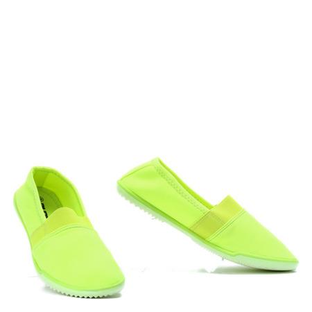 Neonowe tenisówki slip on Sedcaren - Obuwie