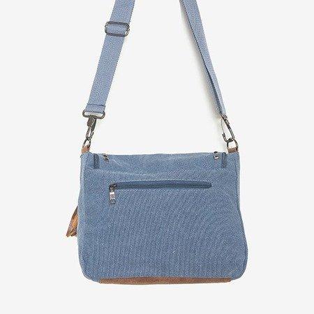 Niebieska torebka z ozdobami - Torebki