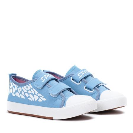 Niebieskie dziewczęce trampki Bammbino - Obuwie