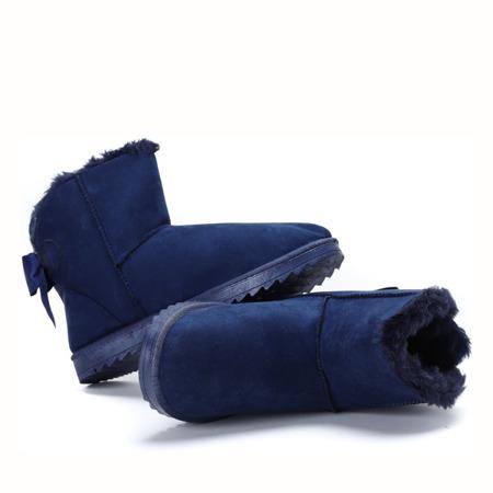Niebieskie emo z kokardką - Obuwie