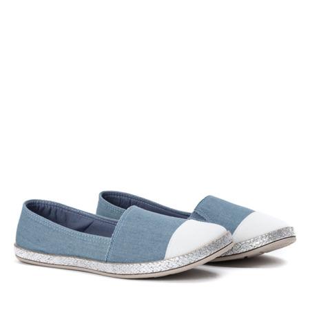Niebieskie espadryle z białym noskiem Brina - Obuwie