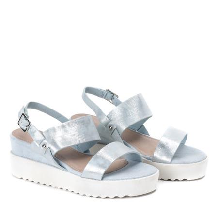 Niebieskie sandały na platformie Jose - Obuwie