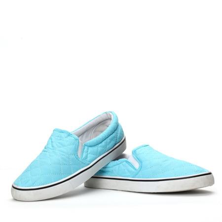 Niebieskie, sportowe trampki - Obuwie