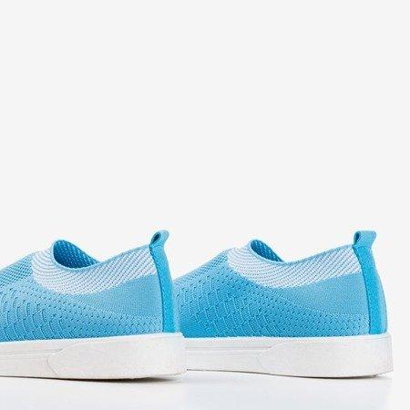 Niebieskie tenisówki slip-on damskie Virla - Obuwie